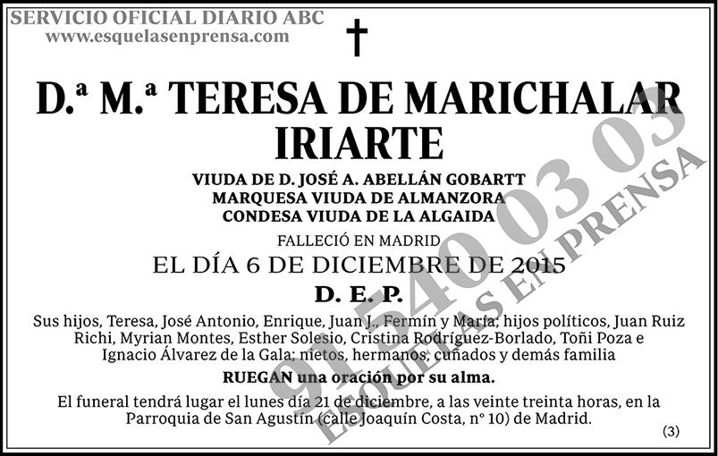 M.ª Teresa de Marichalar Iriarte